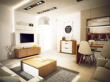interior design of a small apartment