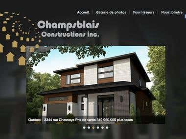 Champsblais Constructions - Website