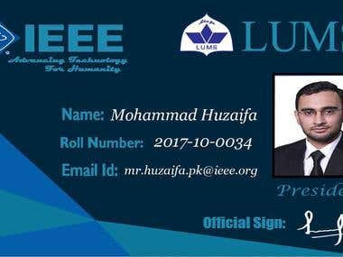 IEEE Card for LUMS