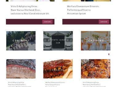 Diseño web de catering