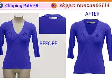 cliping path fr and background remove of shirt and remove ma