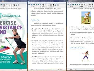 Edit and format eBook (Workout Instruction  Manual)