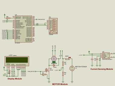 Feedback controlled motor