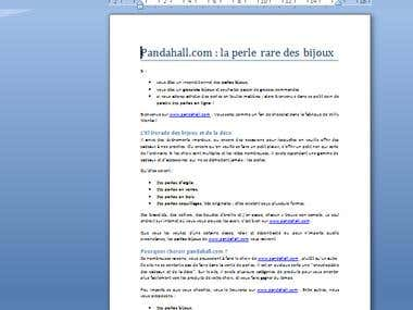 article en français