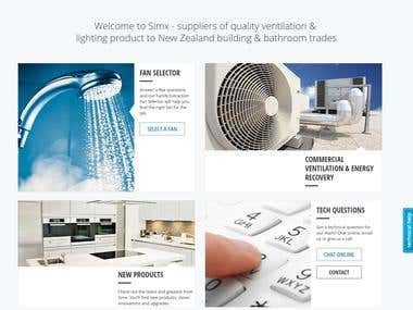 The site for the sale of cooling systems