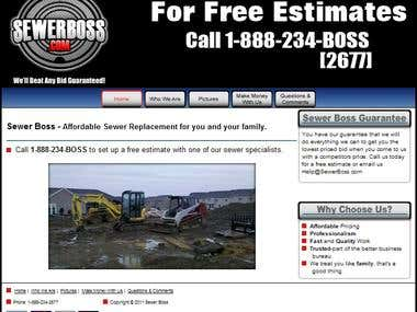 Sewerboss Plumbing Website