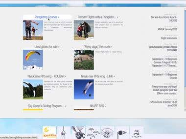 Sky Camp paragliding club website
