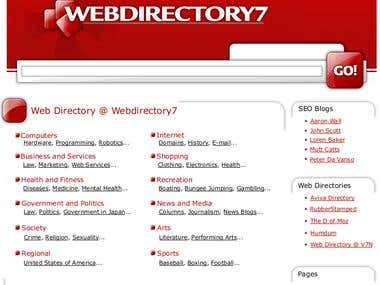 Webdirectory7 Website Redesign