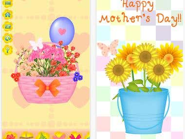 Mothers Day Flowers Bouquet Card Maker