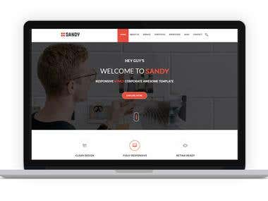 Sandy - Responosve Multipurpose PSD Template