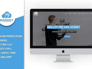 Assost - Responsive One page html5 Template
