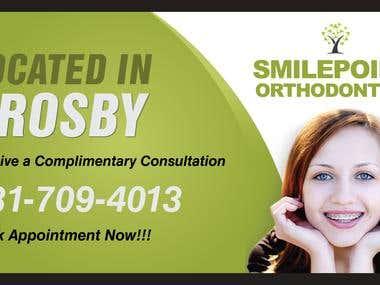 Banner Design for Small Point Orthodontics