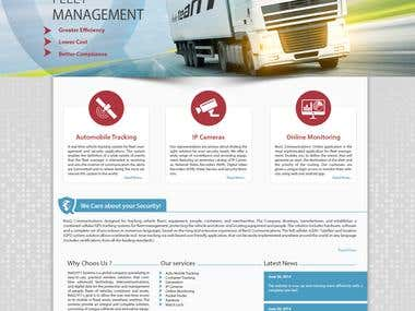 Responsive Wordpress website for tracking company