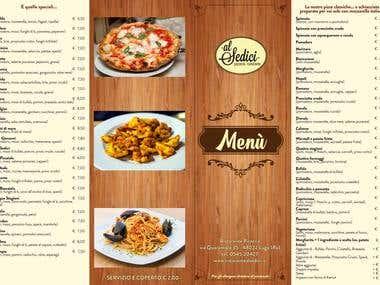 "Menu for ""Al Sedici"" Restaurant & Pizzerie"