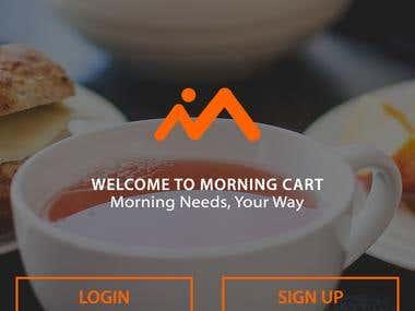 Morning cart mobile application