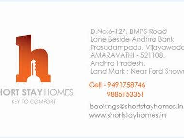 businesscard shortstayhomes front