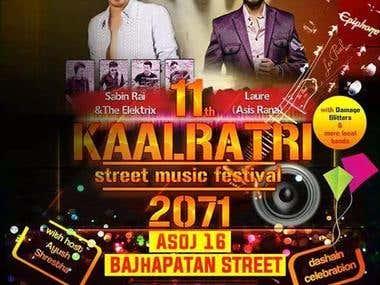 Banner design for Kaalratri concert