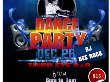Banner design for party
