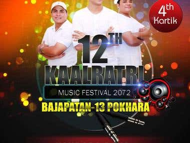 Banner design for kaalratri