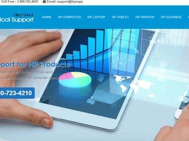 HP website design wordpress