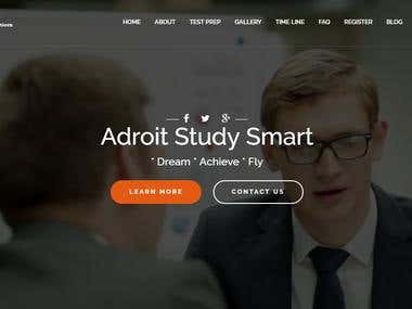 Website Design in wordpress adroitstudysmart