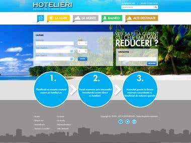 Web design and development for hotel booking company