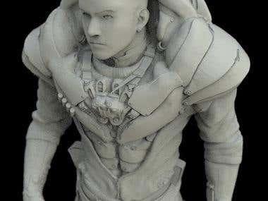 Self-Portrait 3D Modelled