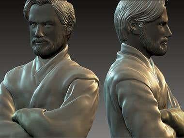 Obi-Wan Kenobi 3D Modelled.