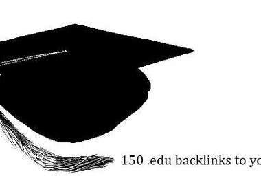 I will create 150 .EDU Backlinks