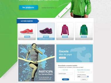 Sports e-commerce