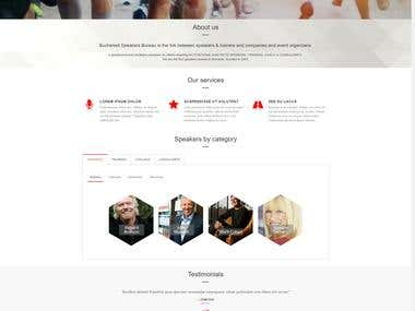 Website design and development for a speakers bureau company