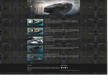 Web design and development for a small boat building company