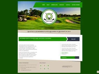 Web design and development of a mini-site for a golf club