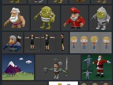 3D Low Poly Game Models