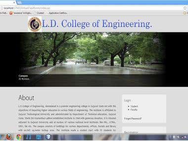 Online College management system.