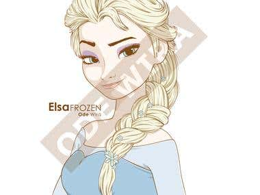 Elsa Frozen (Illustration)