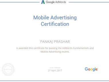 Google Mobile Advertising Certification