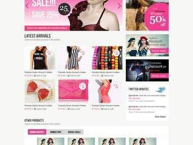 Website Design and HTML - Women's Garments e-commerce