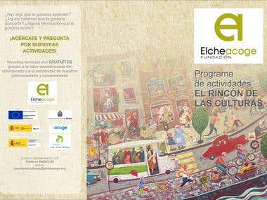 "ELCHE ACOGE BROCHURE ""THE CULTURES CORNER"""