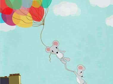 MICE FLYING AWAY