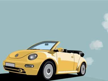New Beetle illustration