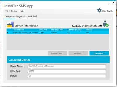 Send SMS with Mobile Connected to PC via Excel file