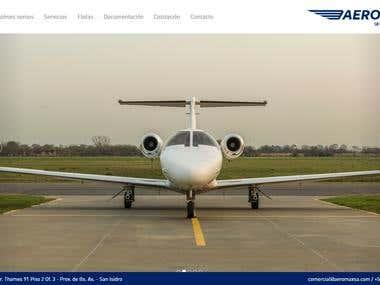 Página web completa para Aeromax