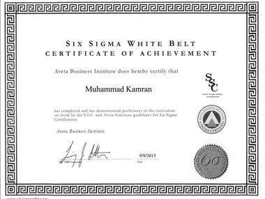 Six Sigma White Belt Achiver