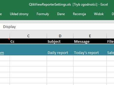 Automation application: QlikView * Excel * Outlook