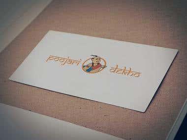 My illustration to make logo - Poojari Dekho