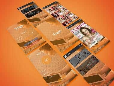 Magazine viewer App mockup