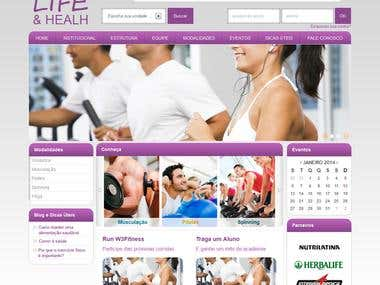 Web Site + CMS para Health & Fitness