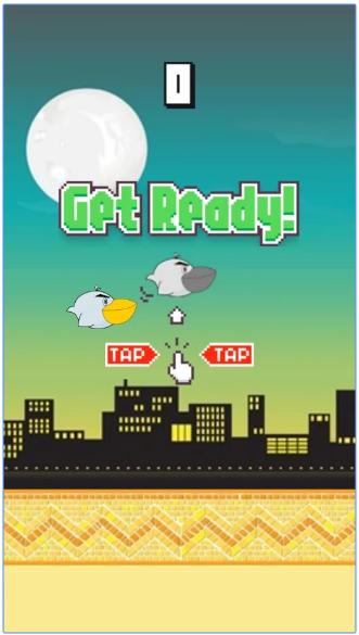 Flappy bird style game