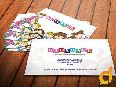 Business Card Design for KidsRack